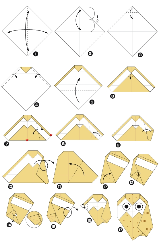 Мастер класс оригами схеми